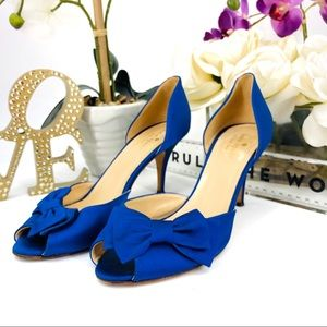 Kate Spade Royal Blue Bow Heels